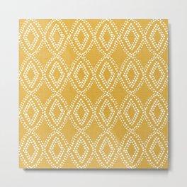 Diamond Dots in Yellow Metal Print