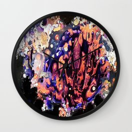 Marble Pool - Mixed Media Pebeo Ceramic Abstract Modern Art, 2015 Wall Clock