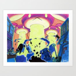 They Came From Carrot Space Art Print