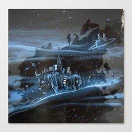 Bison City Canvas Print