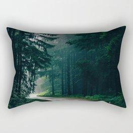 Eerie Dark Path (Color) Rectangular Pillow