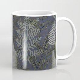 Ferns Purple Blue Coffee Mug