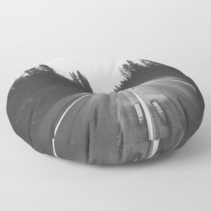 Grey road Floor Pillow