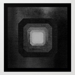 metal polygon Art Print