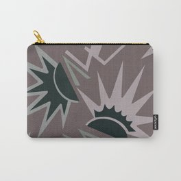 CELEBRITY, ART DECO MODERN: TAUPE SUEDE Carry-All Pouch