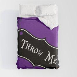 """Throw Me"" Alice in Wonderland styled Bottle Tag Design in 'Shy Violets' Duvet Cover"