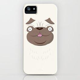Koko Pug Smiling with closed eyes iPhone Case