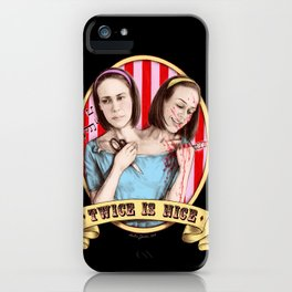 Tattler Twins (color) iPhone Case