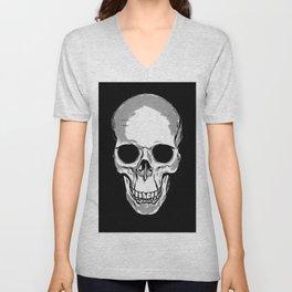 Monotone Skull Unisex V-Neck