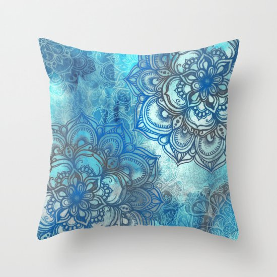 Lost in Blue - a daydream made visible Throw Pillow
