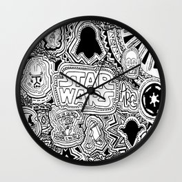 star warrs collage Wall Clock
