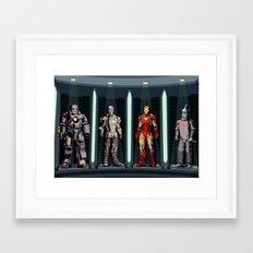 iron man tin man Framed Art Print