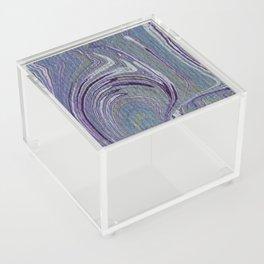 Purple, Blue, & Green Marbled Acrylic Box