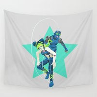 jojo Wall Tapestries featuring String of Fate by a.n. spencer