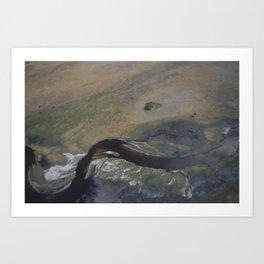 Meandering river Art Print