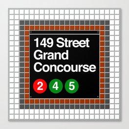 subway grand concourse sign Canvas Print