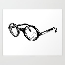 Circle Glasses Art Print