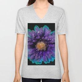 Crystalized Flowers Unisex V-Neck