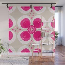 Retro Flower Delight Wall Mural