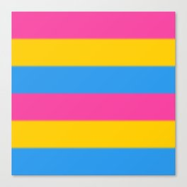 Pansexual Pride Flag v2 Canvas Print