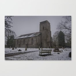 Dunkirk Church In Winter Canvas Print