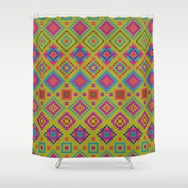 """and the x-dust says """"let's dance"""" Shower Curtain"""