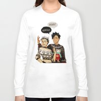 haikyuu Long Sleeve T-shirts featuring Hohoho? by rhymewithrachel