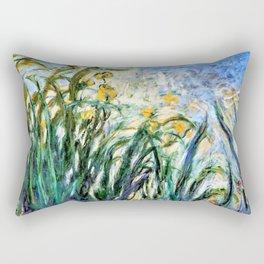 Claude Monet Yellow Irises and Malva Rectangular Pillow