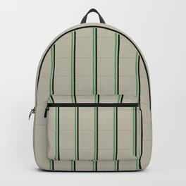 Light Gray Checked Pattern Backpack