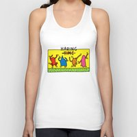 keith haring Tank Tops featuring Haring Time by le.duc
