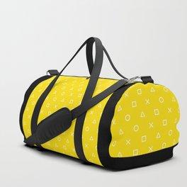 Yellow Gamer Pattern Duffle Bag