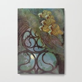 """The Bells"" Fairy Tale Art by Edmund Dulac Metal Print"