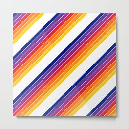 Rainbow Candy Stripe Metal Print