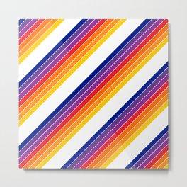 Rainbow Candy Stripe Metal Print