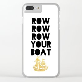 ROW ROW ROW YOUR BOAT - Children song Clear iPhone Case