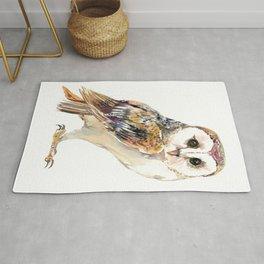 Barn Owl home decor, owl lover gift Rug