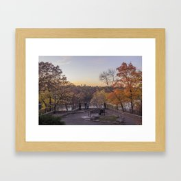 Autumn Overlooking the Mississippi River in Minneapolis Framed Art Print