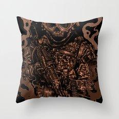 Military skull Throw Pillow