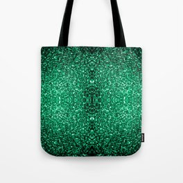 Beautiful Emerald Green glitter sparkles Tote Bag
