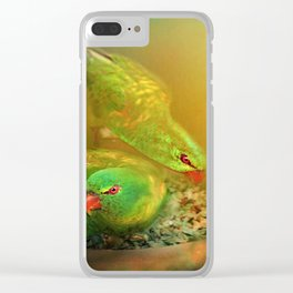 Garden Visitors Clear iPhone Case
