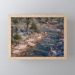 Virgin_River 4784 - Canyon_Junction, Zion_National_Park Framed Mini Art Print