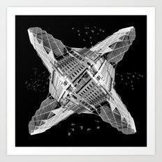 kaleidoscope  architecture Art Print