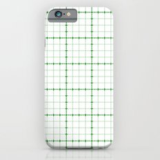 Dotted Grid Weave Green iPhone 6s Slim Case