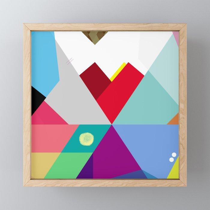 Colorful Love Framed Mini Art Print