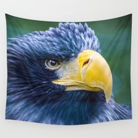 eagle Wall Tapestries featuring Eagle by Veronika