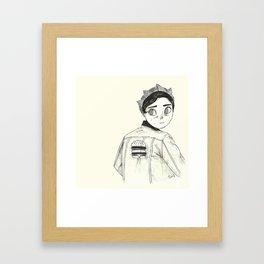 Riverdale's Jughead - Burguer King - Cole Sprouse inspired Framed Art Print