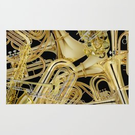 Brass Musical Instruments Rug
