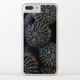 Prickly Cactus Clear iPhone Case