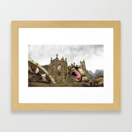 Alien attack apocalypse. Framed Art Print