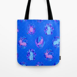 Picnic Pals animals in blueberry Tote Bag